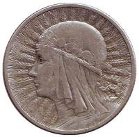 Королева Ядвига. Монета 2 злотых. 1933 год, Польша.
