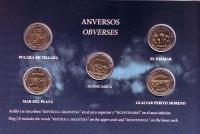 200-летие Аргентины. Набор из 5 монет в буклете. 1 песо, 2010 год, Аргентина.
