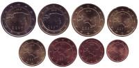 Набор монет евро (8 шт). 2018 год, Эстония.
