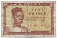 Банкнота 100 франков. 1960 год, Мали. Состояние - F.