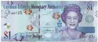 Банкнота 1 доллар. 2014 год, Каймановы острова.
