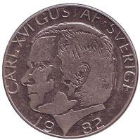 Монета 1 крона. 1982 год, Швеция.