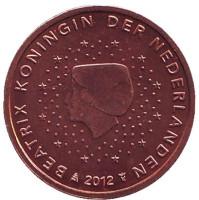 Монета 2 цента. 2012 год, Нидерланды.