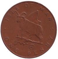Мэнский лохтан. Монета 1 пенни. 1979 год, Остров Мэн. (AA)