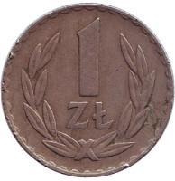 Монета 1 злотый. 1949 год, Польша. (медь, никель)