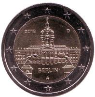 Берлин. Федеральные земли Германии. Монета 2 евро. 2018 год, Германия.