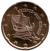 Монета 20 центов. 2017 год, Кипр.