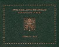 Годовой набор монет евро Ватикана в буклете. 2018 год, Ватикан.