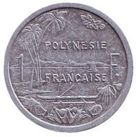 Монета 1 франк. 2006 год, Французская Полинезия.