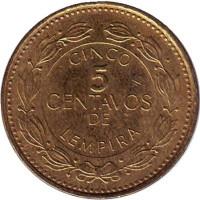 Монета 5 сентаво. 2005 год, Гондурас.