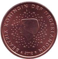 Монета 5 евроцентов. 2012 год, Нидерланды.