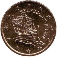 Монета 50 центов. 2017 год, Кипр.