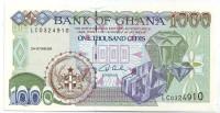 Банкнота 1000 седи. 2001 год, Гана.