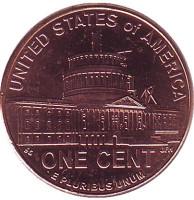 Президентство Линкольна. 1 цент (D), США, 2009 год.