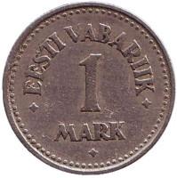 Монета 1 марка. 1922 год, Эстония.