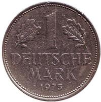Монета 1 марка. 1975 год (J), ФРГ.