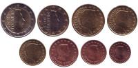 Набор монет евро (8 штук). 2015 год, Люксембург.