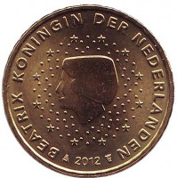 Монета 10 евроцентов. 2012 год, Нидерланды.