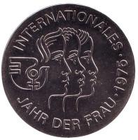 Международный год женщины. Монета 5 марок. 1975 год, ГДР.