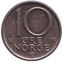 10 эре. 1985 год, Норвегия.