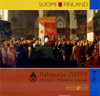 200 лет автономии Финляндии. Банковский набор монет Финляндии (9 шт.). 2009 год, Финляндия.
