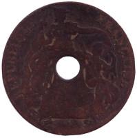 Монета 1 цент. 1914 год (A), Французский Индокитай.