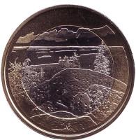Национальный парк Коли. Монета 5 евро. 2018 год, Финляндия.