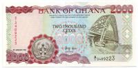 Банкнота 2000 седи. 1995 год, Гана.