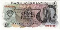 Банкнота 1 фунт. 1980 год, Ирландия.