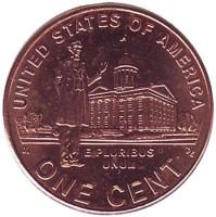 Профессиональная жизнь Линкольна. 1 цент (P), США, 2009 год.