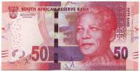 100 лет со дня рождения Нельсона Манделы. Банкнота 50 рандов. 2018 год, ЮАР.