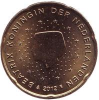 Монета 20 евроцентов. 2012 год, Нидерланды.