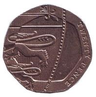 Монета 20 пенсов. 2008 год, Великобритания.