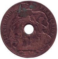 Монета 1 цент. 1919 год (A), Французский Индокитай.