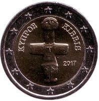 Монета 2 евро. 2017 год, Кипр.