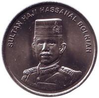 Султан Хассанал Болкиах. Монета 20 сенов. 2005 год, Бруней. UNC.