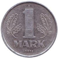 Монета 1 марка. 1973 год, ГДР.