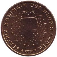 Монета 50 евроцентов. 2012 год, Нидерланды.