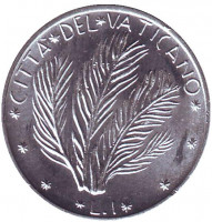 FAO. Растение. Монета 1 лира. 1970 год, Ватикан.