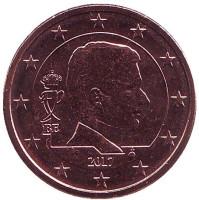 Монета 5 центов. 2017 год, Бельгия.