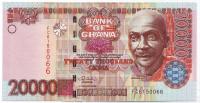 Банкнота 20000 седи. 2006 год, Гана.