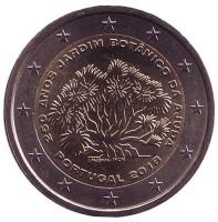 250 лет Ботаническому саду в Ажуде. Монета 2 евро. 2018 год, Португалия.