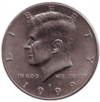Джон Кеннеди. Монета 50 центов. 1999 год (D), США.