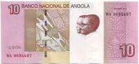 Президенты Анголы. Банкнота 10 кванз. 2012 год, Ангола.