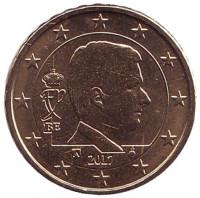 Монета 10 центов. 2017 год, Бельгия.