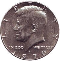 Джон Кеннеди. Монета 50 центов. 1970 год (D), США.