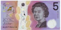 Банкнота 5 долларов. 2016 год, Австралия.