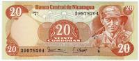 Банкнота 20 кордоб. 1979 год, Никарагуа.
