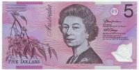 Банкнота 5 долларов. 2002 год, Австралия.