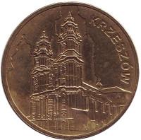 Кшешув. Монета 2 злотых, 2010 год, Польша.